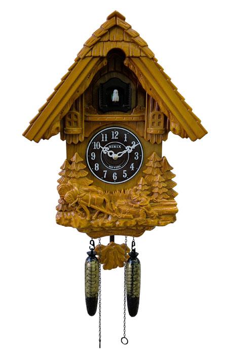 Настенные часы с кукушкой Sinix 693A