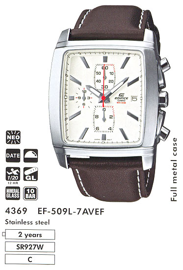 Casio EF-509L-7A Часы Casio Edifice Часы Casio Timer-Watch.ru