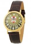 """Российские мужские кварцевые наручные часы Слава """"Патриот"""" 1049779/2035 логотип Росгвардия"""