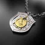 Серебряный амулет Строительные войска(серебро 925 пробы)