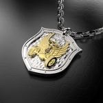 Серебряный амулет Автомобильные войска России(серебро 925 пробы)
